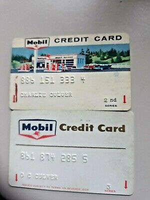 2 Vintage Mobile Credit Cards 2Nd Series & 3Rd Ser No Date No Sig. Req. 1960-70S