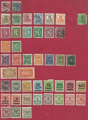 Germany - 1888-1970 Lot 80 - Selection of 122 Stamps Unused & Used Hinged