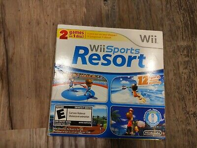 Wii Sports And Wii Sports Resort 2 In 1 Combo Disc Nintendo Wii RARE! Tested