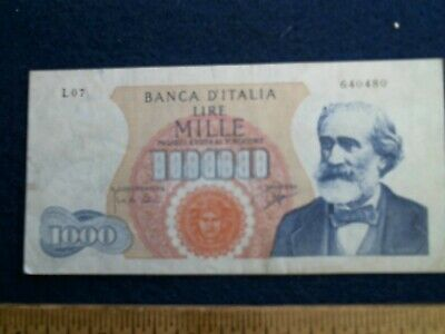 1962 Bank of Italy 1000 Lire note paper currency