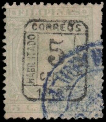 Philippines #187 Used black surcharge