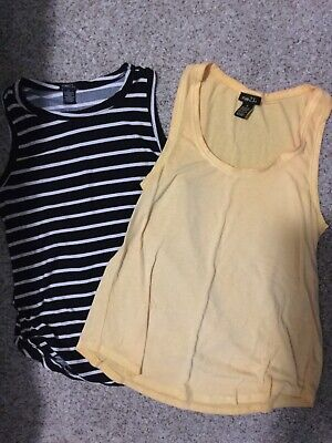 Lot of 2 RUE 21 Casual Tank Tops Womens Sizes S and M