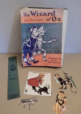 "Vintage BOOK ""The WIZARD of OZ"" (1903) L.F.Baum Denslow Bobbs-Merrill w/Color"