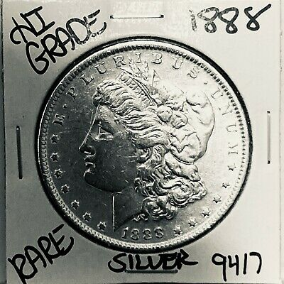 1888 Morgan Silver Dollar Hi Grade Genuine U.s. Mint Rare Coin 9417