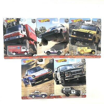 Hot Wheels Premium 2020 Car Culture Q Case All Terrain Wild Terrain - 5 Cars Set