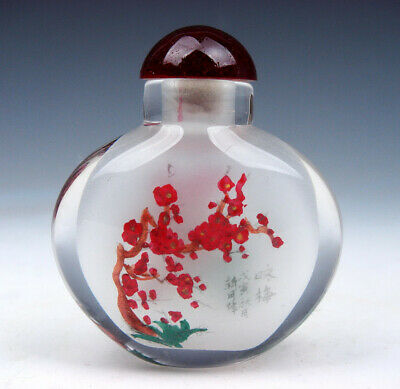 Peking Glass Inside *Plum Blossom* Reverse Hand Painted Snuff Bottle #01072003