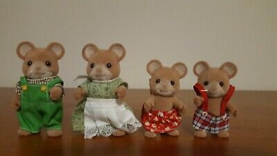 Sylvanian Families Vintage Norwood Mouse Family