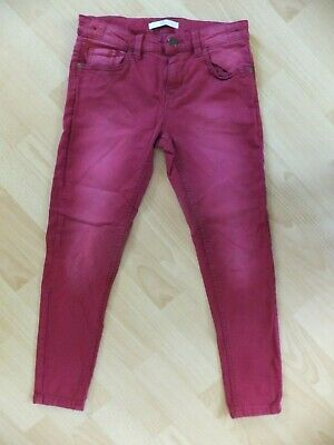 Girls berry red jeans.  Age 9-10 years. From Marks and Spencer.