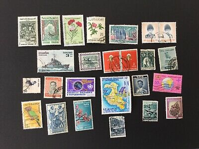 25 Used Postage Stamps Mixed ( Bag 1)