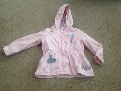 girls pink  next coat with hood  4-5 years