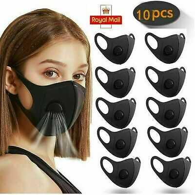 10 x Washable Anti-Fog Haze Face Mouth Cover Protection Respirator-Breathable
