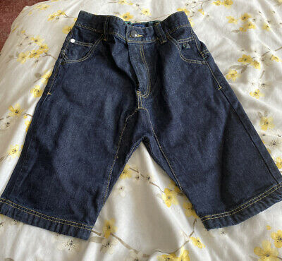 Next Boys Denim Jean Shorts With Adjustable Waist Age 8 Years