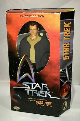 "Playmates STAR TREK Captain Christopher Pike 12"" Figure 1999 Classic Edition NIP"
