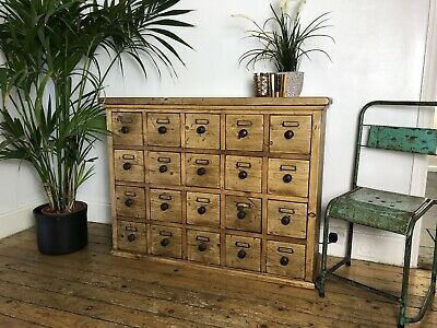 Stunning Vintage Pine Apothecary Chest / Merchants Chest / Multi Drawer Unit