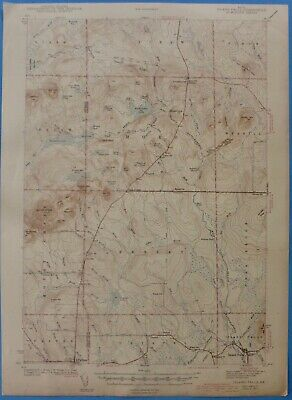 Island Falls, Maine, Vintage USGS Topographic Map, 1942 Edition
