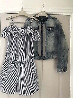 Girls NEXT Shorts Play suit Jumpsuit Denim Jacket Outfit 🦋Age 12 FAB CONDITION