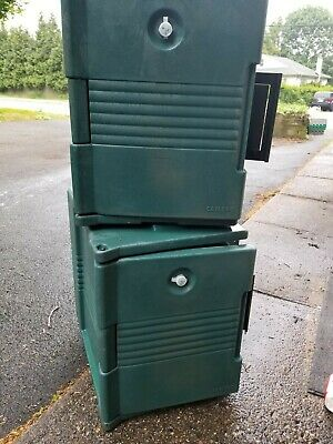 Cambro UPC400 Front Loading Ultra Pan Carrier Granite Green