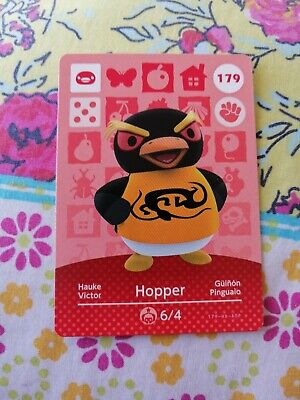 Hopper 179 - Official Animal Crossing Amiibo Card Series 2 New Horizons Mint