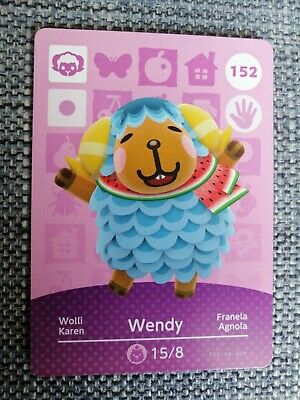 Wendy 152 - Official Animal Crossing Amiibo Card Series 2 New Horizons Unscanned