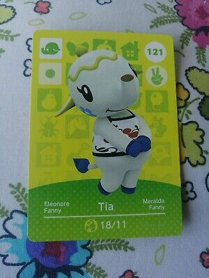 Animal Crossing #121 Tia Official Amiibo Card Series 2 New Horizons Unscanned