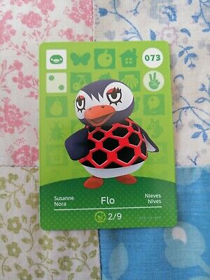 Flo 073 - Official Animal Crossing Amiibo Card Series 1 Unscanned New Horizons