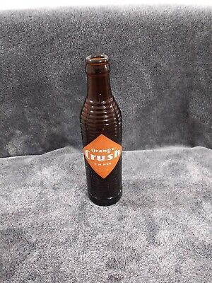 Vintage Orange Crush Brown Glass Bottle fair condition small chip on neck
