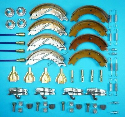 Twin Axle 250x40mm Trailer Brake Shoe & Cable Kit for KNOTT IFOR WILLIAMS LM166G
