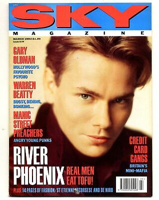 SKY Magazine March 1992 River Phoenix Gary Oldman Warren Beatty Manic Street