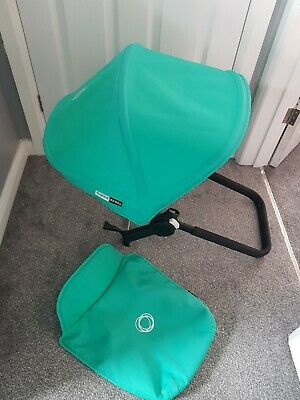 Bugaboo donkey jade green hood and apron Limited edition fabric!