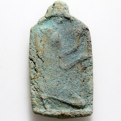 Circa 1000-500 BC Egyptian Colored Faience Amulet Pendant