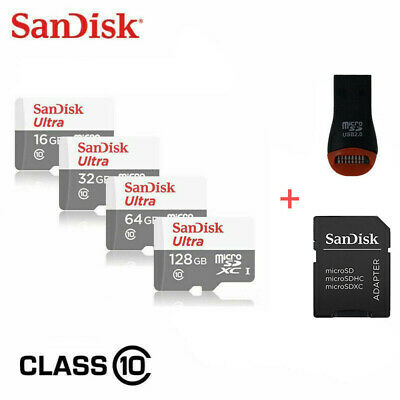SanDisk Micro SD Card 16GB 32GB 64GB 128GB TF Class 10 for Smartphones