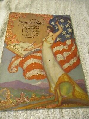 1936 Tournament of Roses Parade Program Brochure