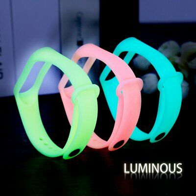 Glowing Colorful For Xiaomi Mi Band 3 Strap for MiBand 3 Bracelet Strap For Mi
