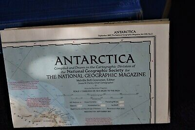 Vintage 1957 ANTARCTICA  ~ Authentic Original 63+ Year Old Map