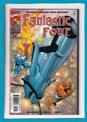 Fantastic Four #24_December 1999_Near Mint Minus_The Thing_Human Torch!
