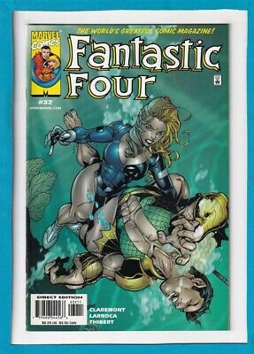 Fantastic Four #32_August 2000_Very Fine+_Sub-Mariner_The Thing_Human Torch!
