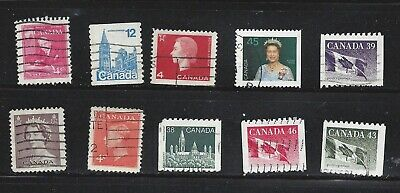 CANADA, lot of 10 used stamps, , see scan