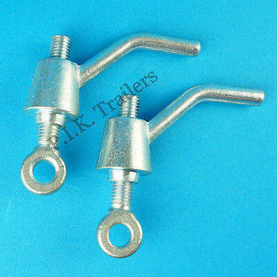 2 x Ramp Fastener Lever Handle & Eye Bolt M14 Thread for Ifor Williams Trailer