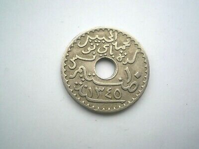 EARLY HARD TO FIND 10 CENTIME COIN FROM  FRENCH TUNISIA DATED 1926 nice