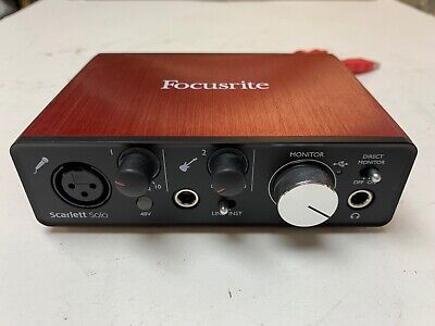 Focusrite Scarlett Solo Usb Audio Interface With Cord Musical Computer  Adapter