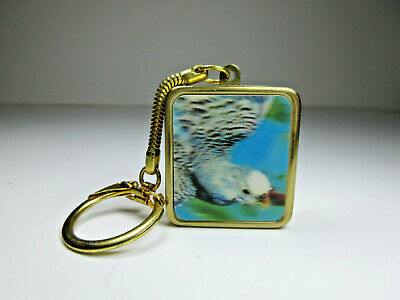 Vtg Sankyo Japan Music Box Key Chain Hologram Bird Image On Off Switch Working