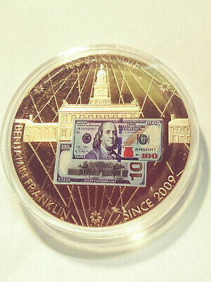Ben Franklin $100 Banknotes of the USA 24k Gold Layered Proof Medal (#LB-163)