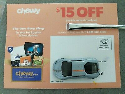 ➡️ CHEWY $15 off first order $49  1coupon - chewy.com code - exp. 08-31- 20 - ➡️