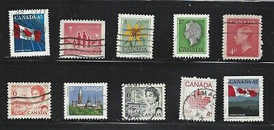 CANADA, lot of 10 used stamps, mixed years and subjects, see scan