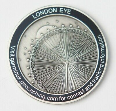 RARE Early Geocoin Geocahing Trackable LONDON EYE Enjoy England 2008 Unactivated
