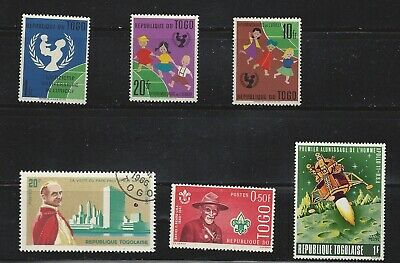 Togo, Mixed lot of 6 never hinged stamps, see scan