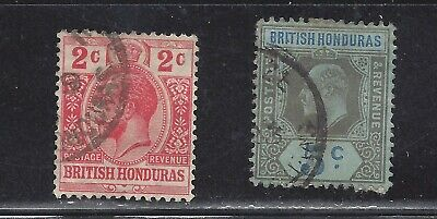 British Honduras, lot of 2 very old stamps, see scan