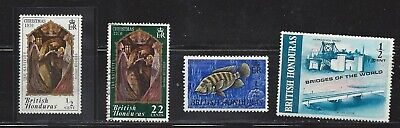 British Honduras, MNH lot of 4 old stamps, see scan