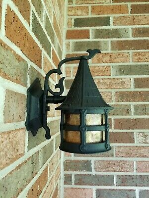 Antique Arts & Crafts Cast Porch Light Sconce