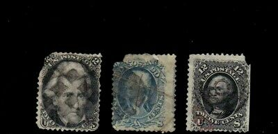 US STAMPS 19th c used classics incl #72a, w/faults; CV at least $805.00  (434)